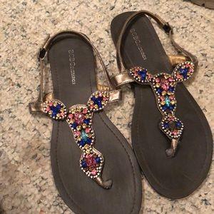 Beautiful sandals with jewel embellishment